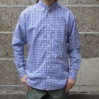 SERO (セロ) BUTTON DOWN SHIRTS L/S gingham ブルー