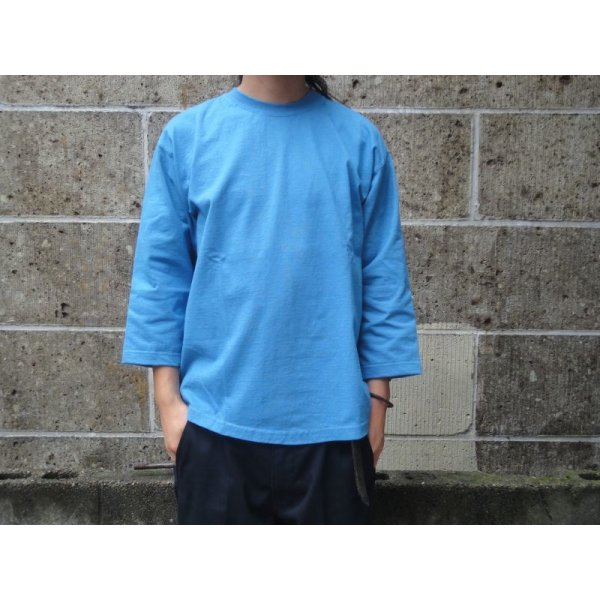 画像1: CAMBER (キャンバー) 8oz MAX WEIGHT CUT 8分袖 T-SHIRT GARMENT DYED サックス