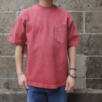CAMBER (キャンバー) 8oz MAX WEIGHT POCKET T-SHIRT PIGMENT DYE レッド